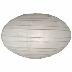 White Oval Paper Lanterns 13 pcs 35 cm 14 in Hanging Party Wedding Decor Folds