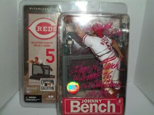 McFarlane Auto/signed Johnny Bench Cooperstown w/4 inscriptions Cincinnati Reds