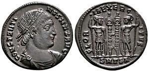 CONSTANTINE I (330-335 AD) Ae3 Follis. Thessalonica #CA 7681