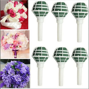 Wedding Supply Flower Decoration DIY Bridal Handle Bouquet Foam Holder Portable