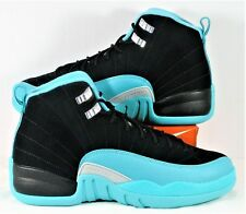 Nike Air Jordan 12 XII Retro GG Black & Hyper Jade Sz 6.5Y NEW 510815 017