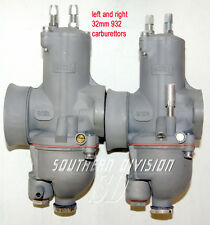932 Pair Concentric 32 mm Carburettor Wassell Carburateur Paire Norton Commando Atlas