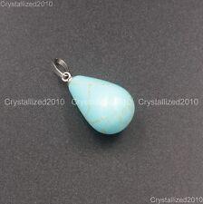 Natural Gemstones Drop Raindrop Reiki Chakra Healing Pendant Beads Assorted
