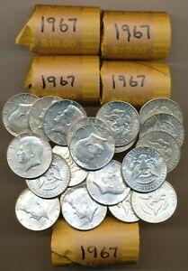 100 KENNEDY 40% SILVER HALF DOLLARS 1967