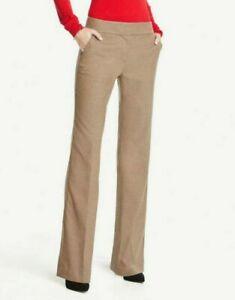 Ann Taylor Factory Tan Light Brown Pants 10 Curvy NEW NWT Work