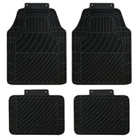 Car Floor Mats Universal Black Non-Slip Rubber for Car Sedan Van Truck SUV 4pcs
