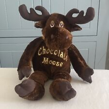 """CHAD VALLEY PLUSH CHOCOLATE MOOSE BROWN AND GOLD SOFT CUDDLY TOY 16"""" TALL NEW"""