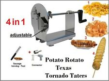 Potato Rotato Texas Tornado Taters - Ribbons Spiral Potato Cutter Slicer Twister