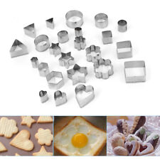 24x Ausstechformen Fondant Ausstecher Set Plätzchenformen aus Edelstahl für Keks