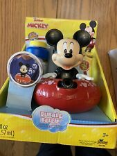Disney Junior Mickey Mouse Super Bubble Bellie Battery Operated Bubble Maker New