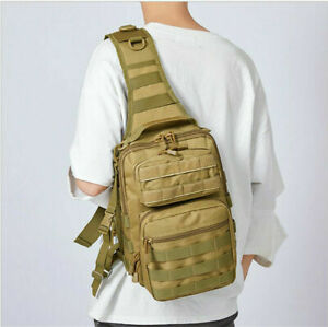 Heavy Duty Camping Backpack Sling Tactical Military Travel Molle Small DayPack