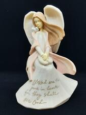 Foundations Angel figurine by Karen Hahn; Blessed are the Pure in Heart