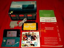 CONSOLE NINTENDO 3DS AQUA BLUE + FIFA 12 e LEGO NINJIAGO ○○○ USATA - DC