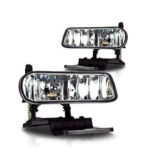 1999-2002 Chevy Silverado Driving Fog Lights Bumper Lamps + Bulbs Clear