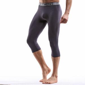 Men Sports Panties Underwear Running Leggings Seven-point Pants Underpants L-4XL