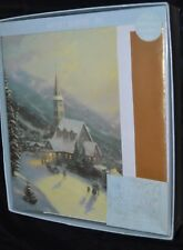 Box Out of Print Thomas Kinkade Christmas Cards MOONLIT VILLAGE Artist Series B3