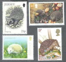 Hedgehogs 4 different mnh Great Britain & Islands