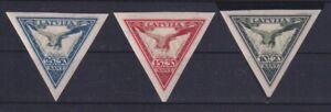 F-EX26339 LATVIJA LATVIA LETONIA MNH AIR EAGLE BIRD IMPERFORATE SET.