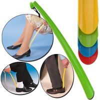42cm Durable Long Handle Shoehorn Shoe Horn Lifter Disability Aid Flexible Stick