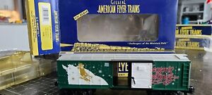 American Flyer 6-48342 S Scale 2001 Christmas Boxcar in box Estate Lot # 25, 26