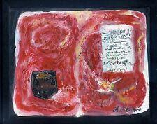 "Rib-eye Beef Steak ""USDA Prime"" Original American Folk Art Oil Painting FRAMED"