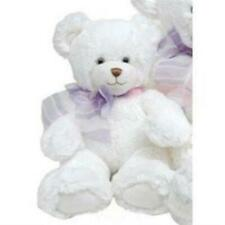 "10"" seated White Dena Bear"