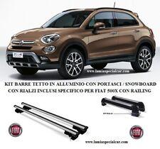 KIT FIAT 500X  500 X CON BARRE PORTAPACCHI + PORTASCI E SNOWBOARD CON RIALZI. .