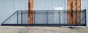 6,0x1,5 Meter R Schiebetor Hoftor freitragend manuell verzinkt SOFORT verfügbar