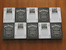10 pcs Jack Daniels whiskey playing cards black tin metal box new unopened rare