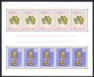 Monaco 1976 Europa/Ceramics/Art/Craft/Figurine/Plate 10v m/s (n32649)