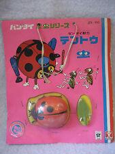 RARE vintage BANDAI Japan LADYBUG toy WINDUP CUTE Japanese MOC Lady Bug wind up