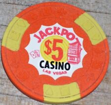 $5 GAMING CHIP FROM THE JACKPOT CASINO LAS VEGAS