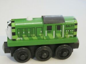 Genuine Thomas Friends Wooden Train Railroad - Green Salty