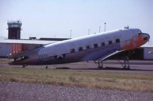 35mm Aircraft Slide Ex USN 61378 Douglas C-47 Skytrain 1981 Missoula