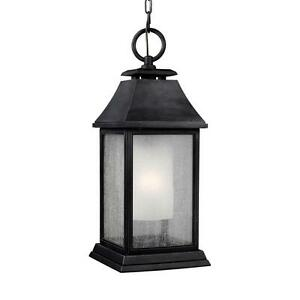 Feiss Shepherd 1-Light Dark Weathered Zinc Outdoor Pendant OL10611DWZ