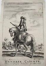 Einrich Casimir von Nassau Dietz Oranien Friesland seltener Kupferstich 1700