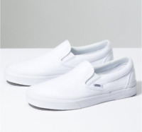 New Vans Authentic Classic Slip On VN000EYEW00 White Men Canvas Casual Sneakers