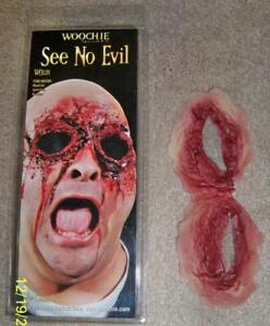 SEE NO EVIL GORY EYES RIPPED OUT PROSTHETIC COSTUME MAKEUP APPLICANCE CSWO328