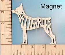 Rat Terrier Dog laser cut and engraved wood Magnet