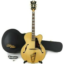 D'Angelico Excel EXL-1 Jazz Archtop Hollowbody Electric Guitar w/ Case - Natural