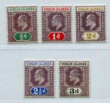 EVII VIRGIN ISLANDS SCOTT 29-33 SG 69-73 PERFECT MNH