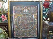 Tibet Buddhism Fane Handkwork made silk Model Of Mandala Buddha statue TangKa