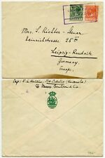 Enviar correo Venezuela holandés seepost 1929 A ALEMANIA ILUSTRADA Solapa Envolvente