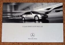 2001 MERCEDES BENZ C-CLASS SPORTS COUPE PRICE LIST - 180 200 230 CDI