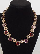 Carolee Gold BERRY CHIC Breast Cancer Foundation Crystal Geometric Drop Necklace