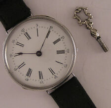 AMAZING SILVER CASE ALL ORIGINAL Cylindre 150 Years Old French Wrist Watch MINT