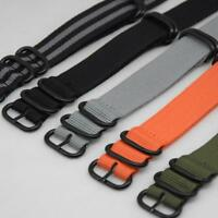 Fashion Nylon Strap Military Army Men Watch Band Wristwatch Straps18 20 22 24-DE