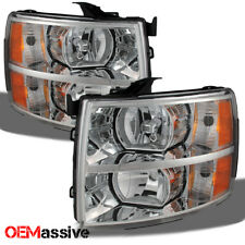 2007-2013 Chevy Silverado 1500 2500 3500 Replacement Headlights Left+Right Pair