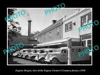 OLD LARGE HISTORIC PHOTO OF EUGENE OREGON, THE EUGENE CREAMRY FACTORY c1930