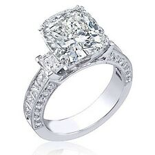 2.39Ct Cushion Cut Natural Diamond 14K Engagement Ring G,Vs1 Channel Set Princes
